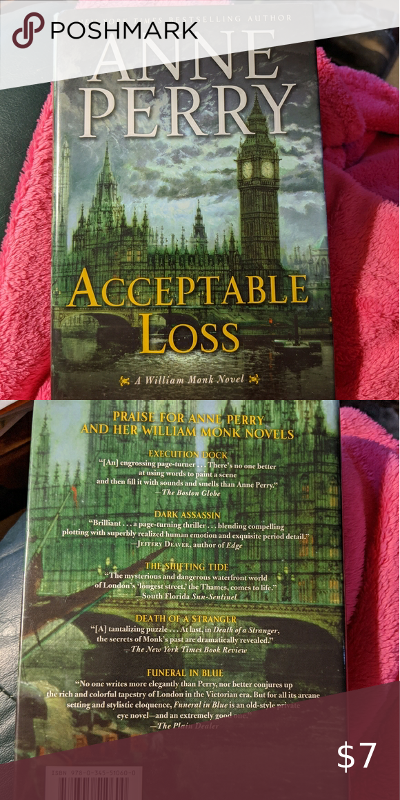 Anne Perry Acceptable Loss Euc Hardback Book Copyright 2011 Pet Friendly Smoke Free Home Bundle For Additional Savings Ballantine Books Ot In 2020 Perry Novels Anne