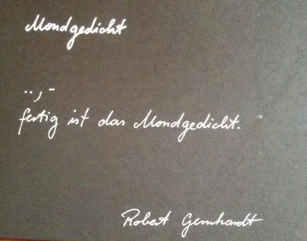 Robert Gernhardt Mondgedicht Poesiealbum Gedichte Album