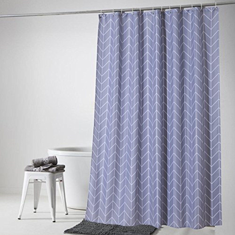 Ufelicity Elegant Geometric Shower Curtain Polyester Heavy Duty