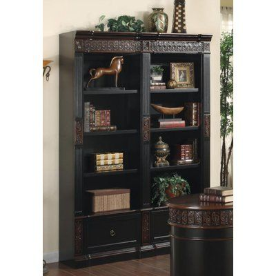 Canora Grey Letha 2 Piece Desk Office Suite With Images Brown Bookcase Home Office Furniture Furniture