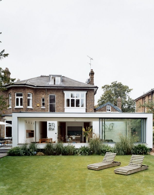 Clipping From Dwell Com From A Victorian House Turned Modern On Clippings Flat Roof Extension Modern Extension Architecture