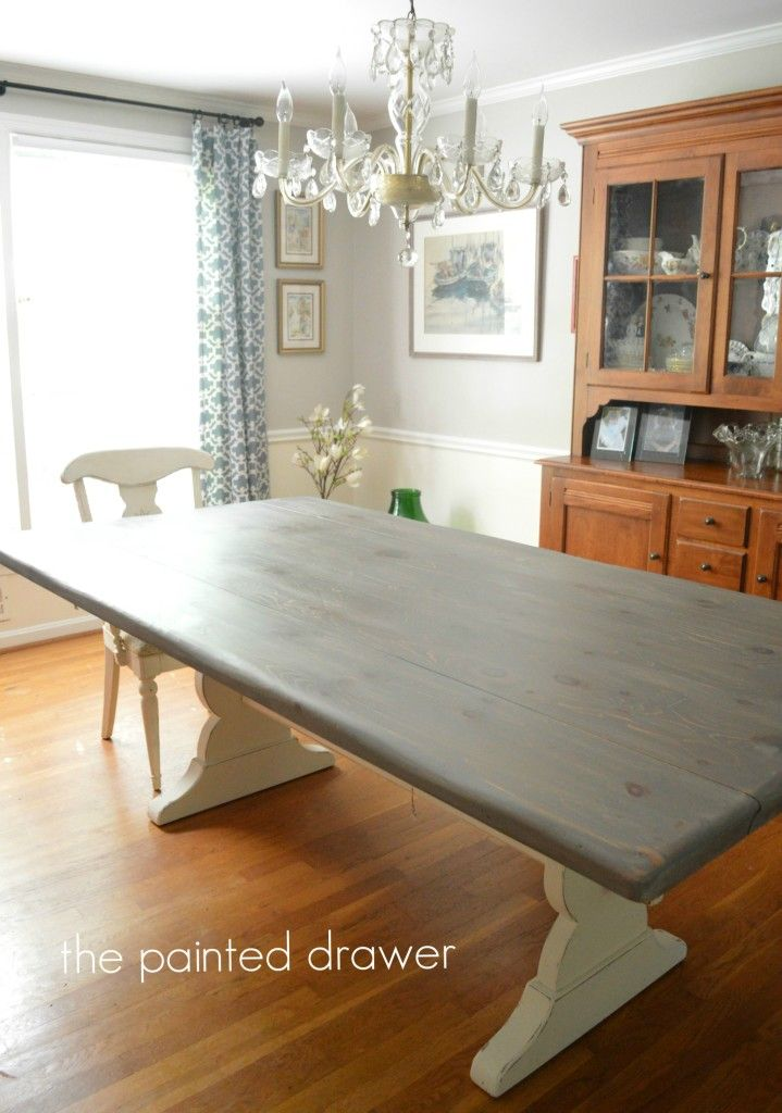Gray Wood Stain Three Options Grey Dining Tables