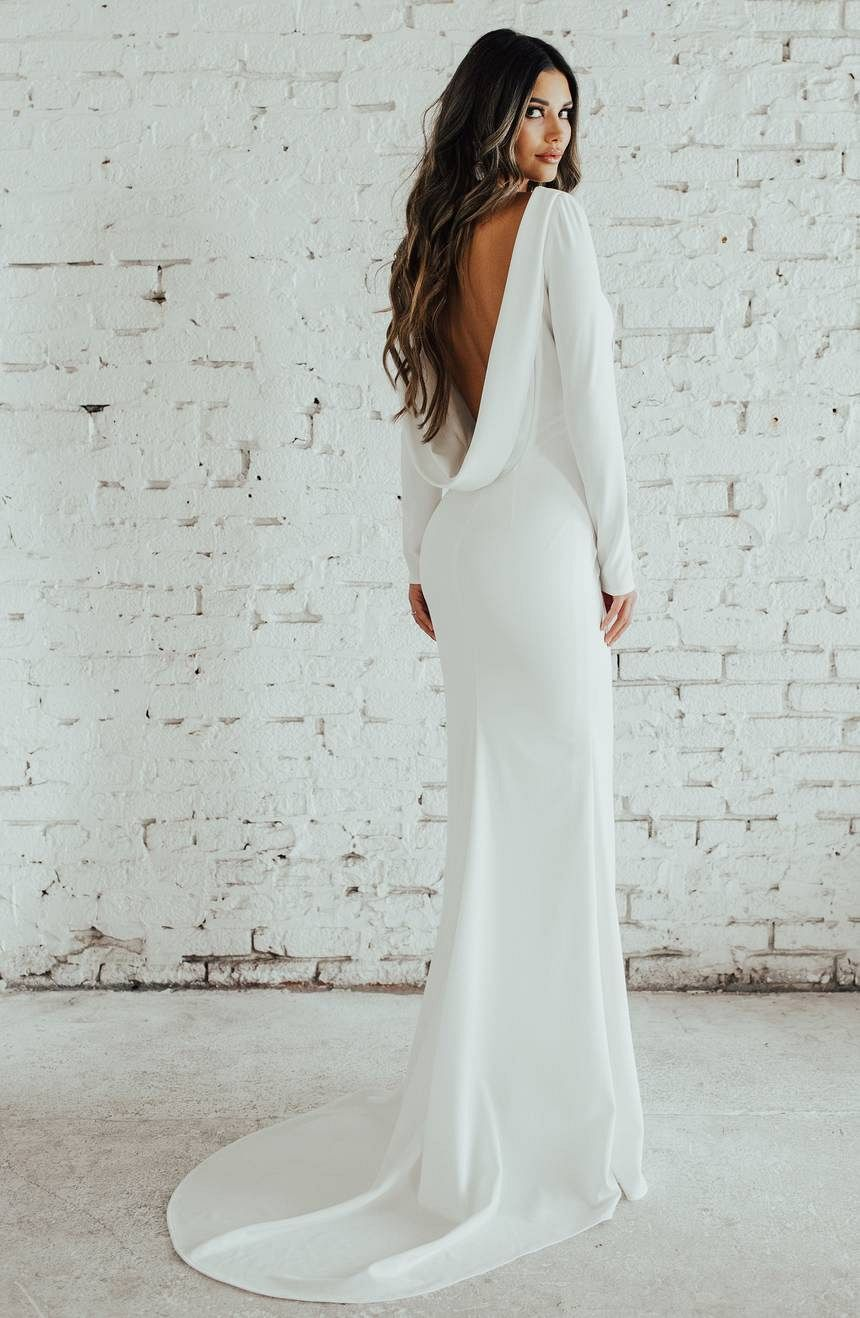 clean simple bridal gowns inspired by meghan markle royce