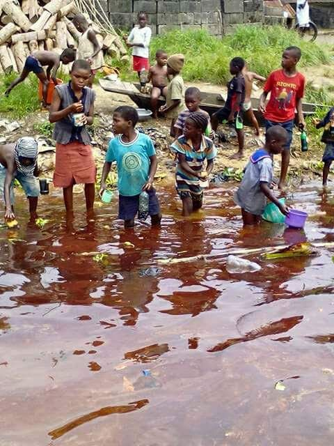 Niger Delta Kids Are Drinking Polluted Water Because Of Oil Spillage ...