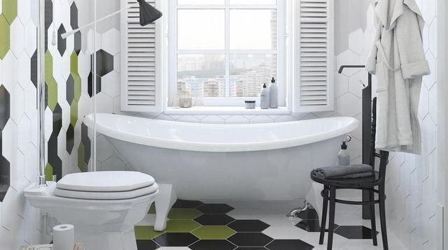 Salle de bains  des revêtements muraux tendance