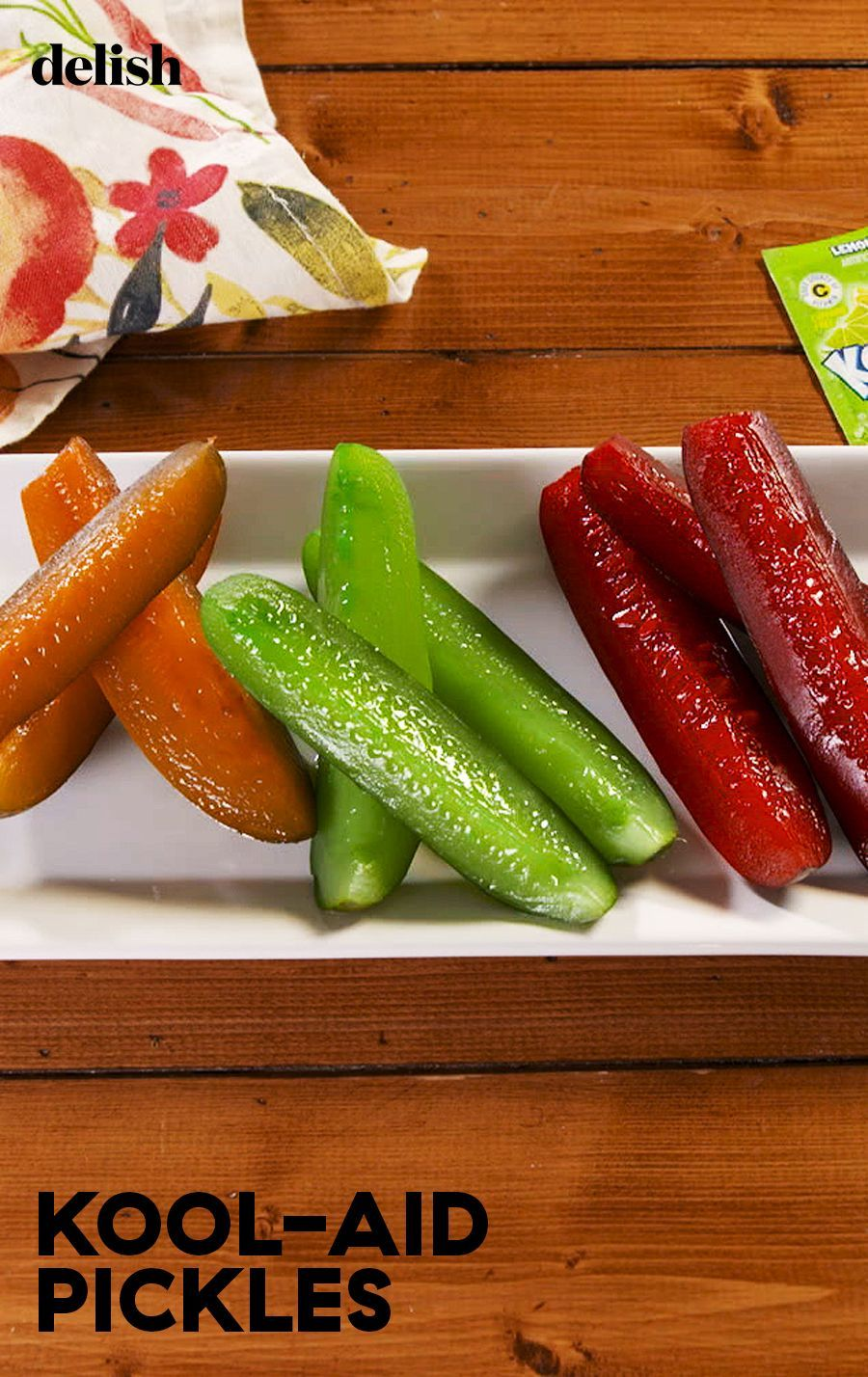 Kool Aid Pickles Are Our Neon Obsession Recipe Kool Aid Kool Aid Pickles Recipe Pickling Recipes