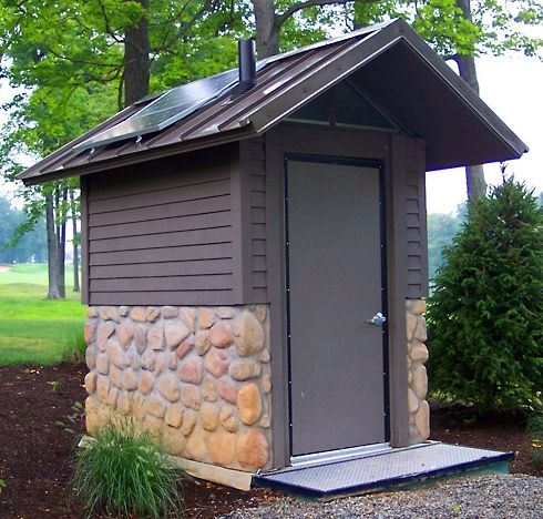 outhouse with composting toilet - Google Search | outdoor potty ...