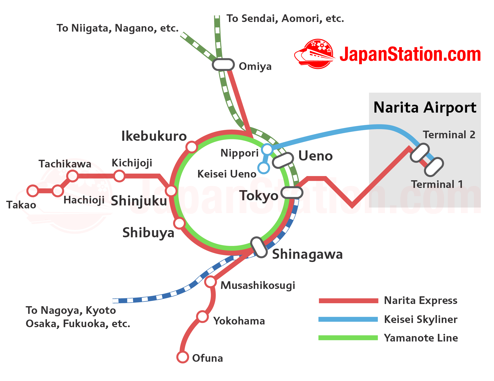 Narita Express Route Map Japan Station Pinterest Airport - Japan map airports
