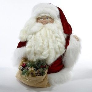 PLUSH SANTA WITH GIFT TABLEPIECE