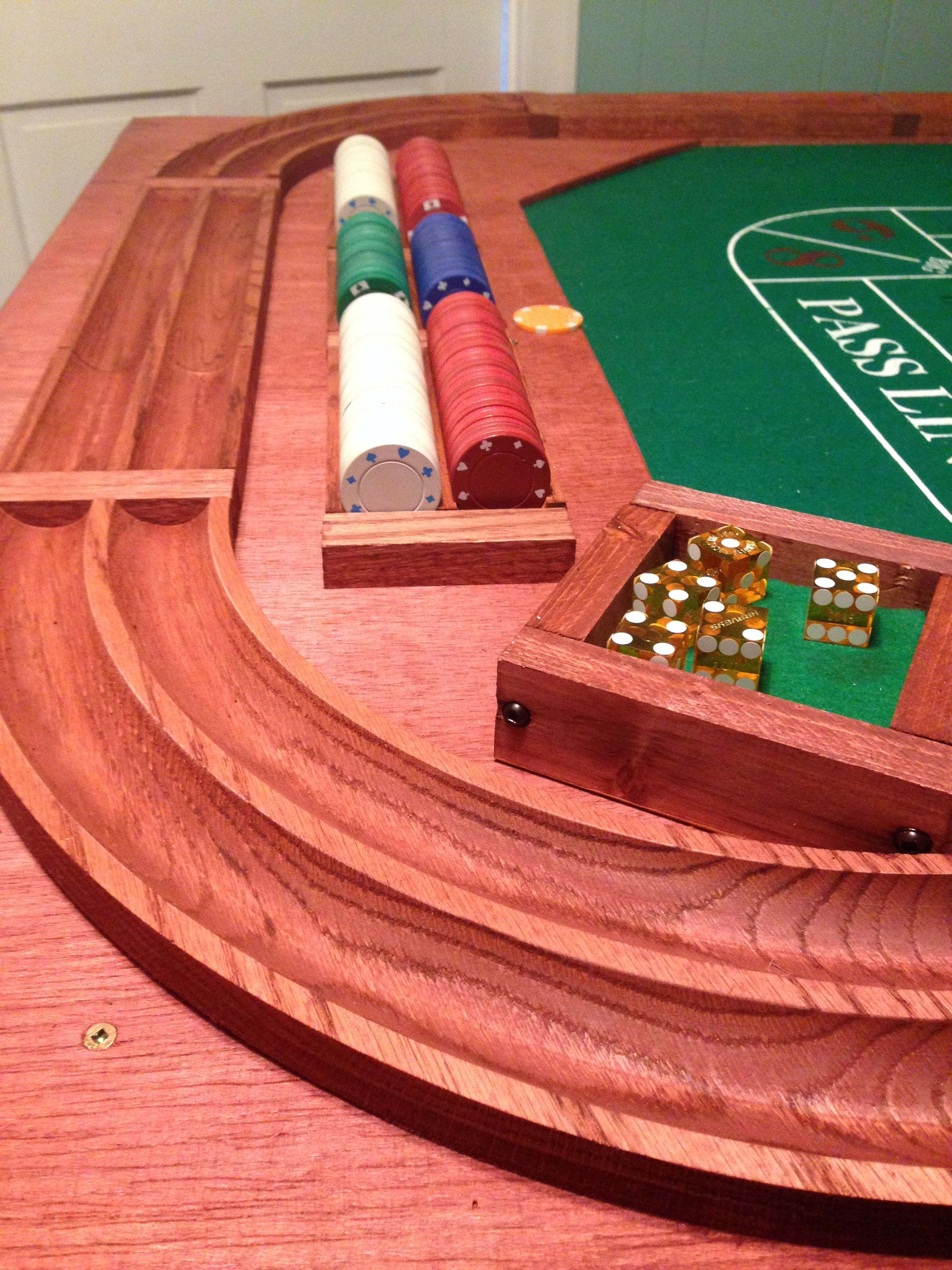 Homemade craps table... Get your game on! Casino table
