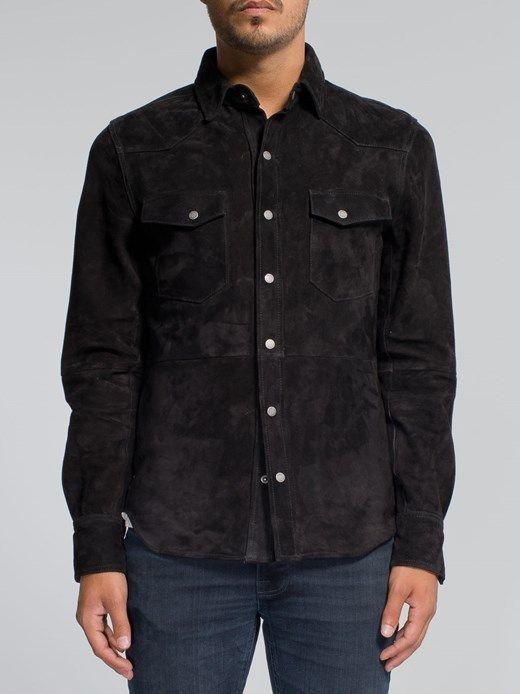 a871f3ffde Jonis Suede Shirt Black - Nudie Jeans