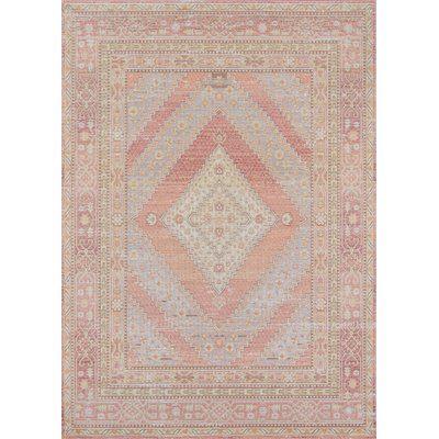 Ophelia Co Sofian Pink Blue Geometric Area Rug Rug Size Runner 2