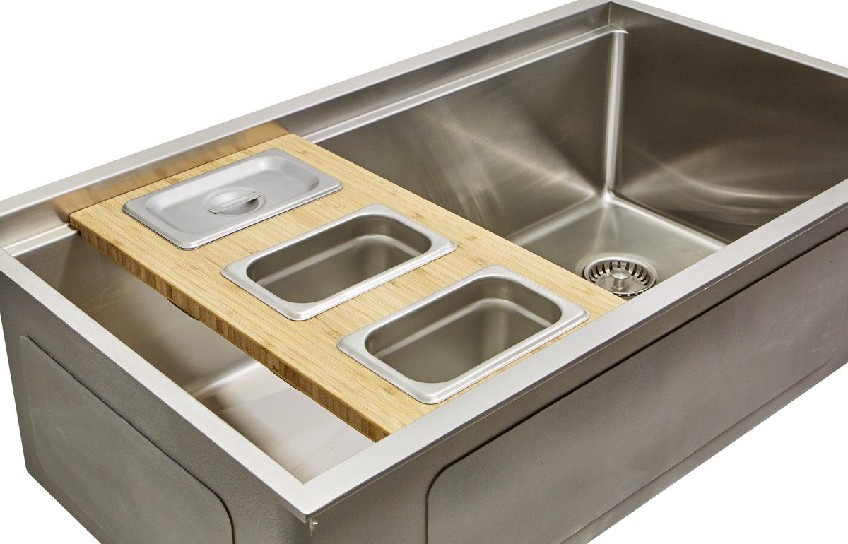 Ledge Accessories 7 Bamboo 3 Bowl Serving Board Lcb 3bowl Kitchen Sink Accessories Sink Accessories Sink