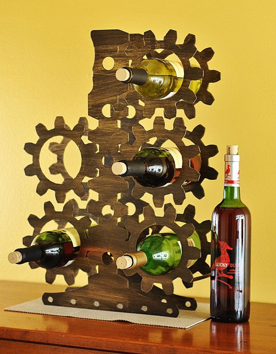 Steampunk / Industrial Wine Rack