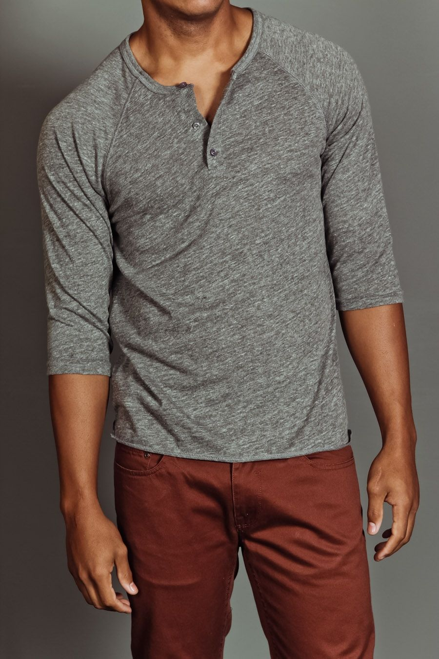 Weekendcasual Menswear Grey Three Quarter Sleeve