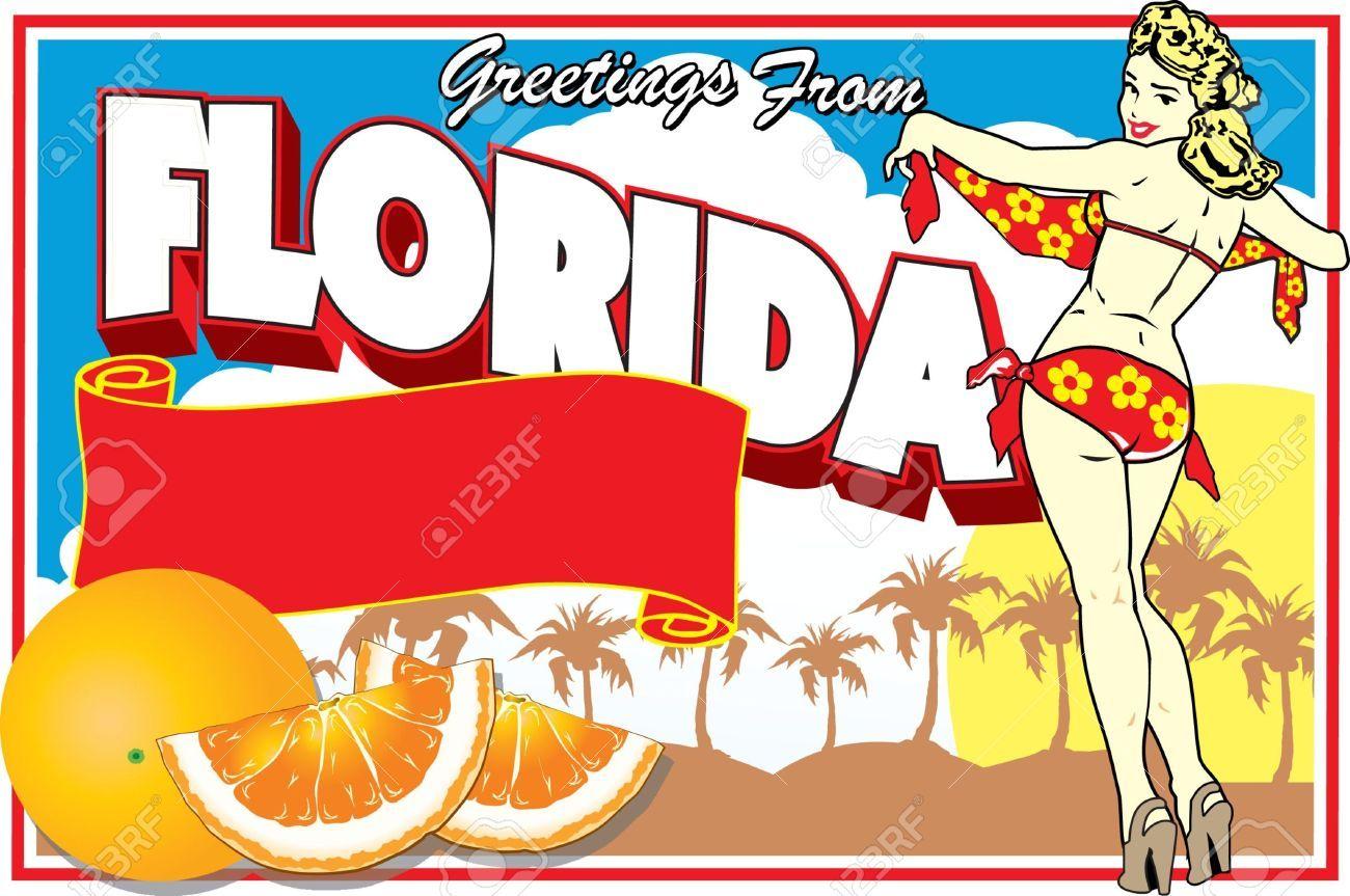 Florida Postcard , affiliate, Florida, Postcard