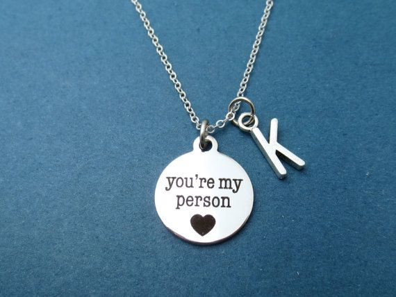 NEW You/'re My Person Pendant Charm Silver Necklace Chain Women Fashion Jewelry