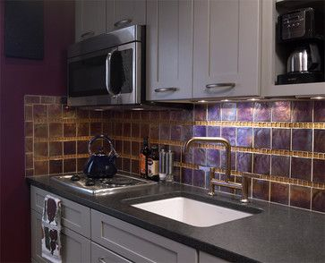 Kitchen Eggplant Walls Design Ideas, Pictures, Remodel And Decor