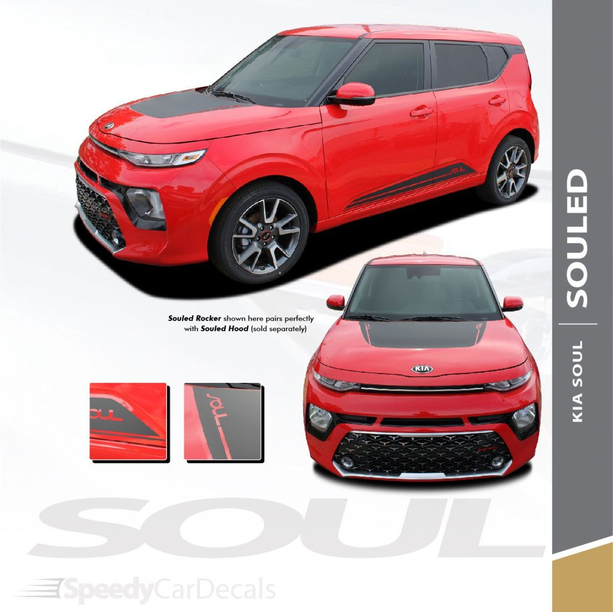 2020 Kia Soul Hood Stripes And Lower Rocker Panel Souled 3m Premium And Supreme Install Hood Stripe Kia Car Stripes