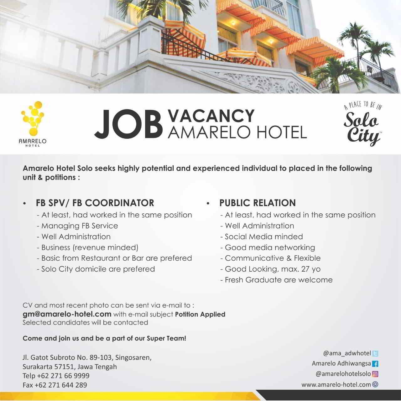 Fairmont Hotel Jakarta Job Vacancy Hotelier Indonesia Jobs Dubai Burj Khalifas