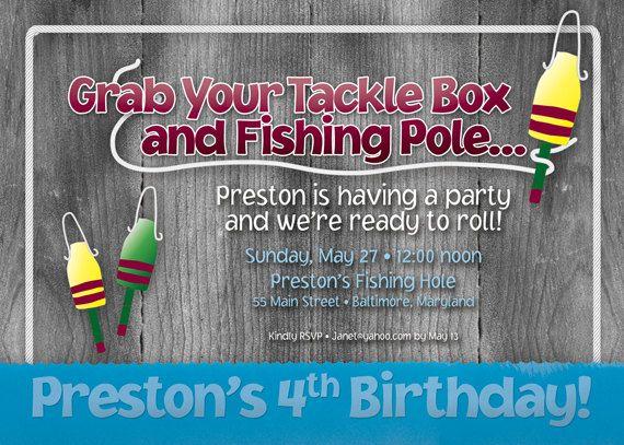 Fishing theme birthday party invitation invitation designs fishing theme birthday party invitation filmwisefo