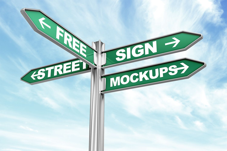Free Street Sign Mockups Free Mockup Sign Mockup Street Signs Sign Mockup Free