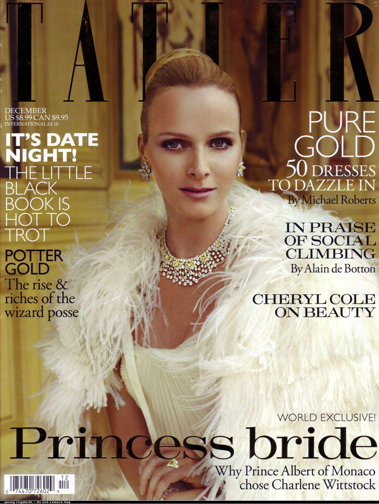 Tatler, December 2010 The Princess Bride Charlene Wittstock