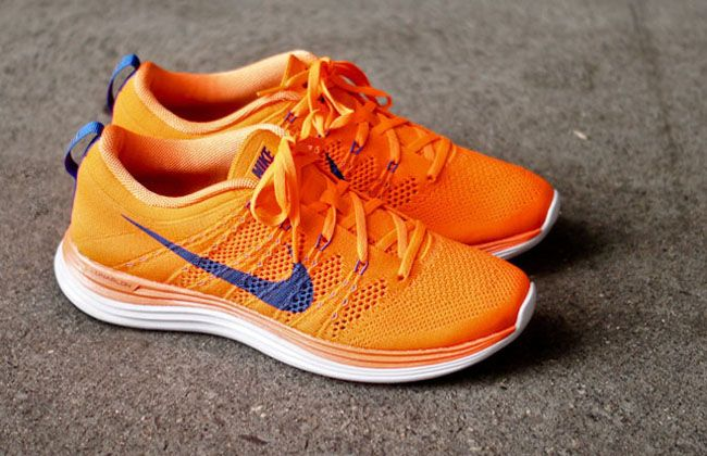 "newest 744e9 efd53 Nike Flyknit Lunar 1 ""Total Orange"""