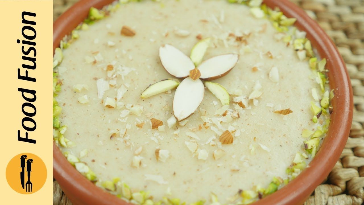 Instant Badam Firni Rice Pudding Recipe Phirni Desssert By Food Fusion Youtube Food Rice Pudding Recipe Recipes