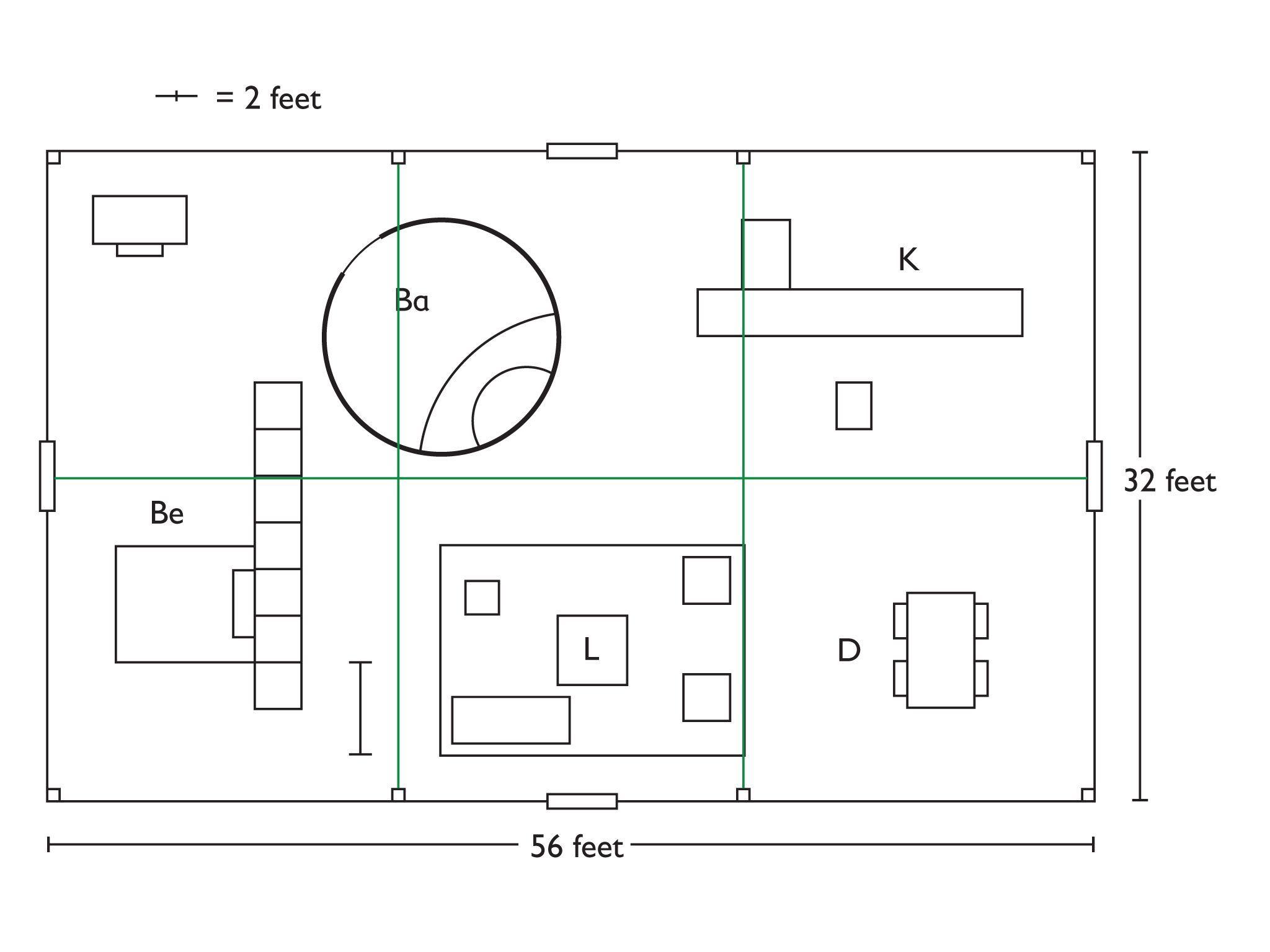 Geometry Floor Plan Project Philip Johnson Glass House Glass House Philip Johnson