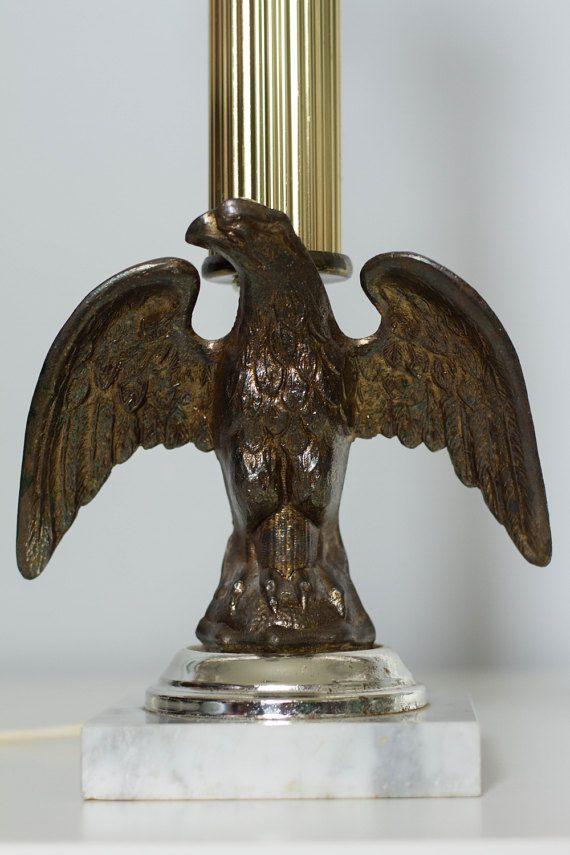 Vintage 20 American Eagle Lamp By Underwriters By VintageExposure