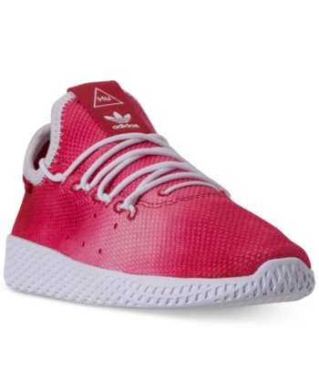 3bccd5da8 adidas Little Boys  Originals Pharrell Williams Tennis Hu Casual Sneakers  from Finish Line - Red