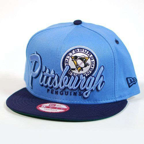 official photos c4e8a ff697 New Era NHL Pittsburgh Penguins Logo Class Snapback Light Blue and Navy Cap  by New Era