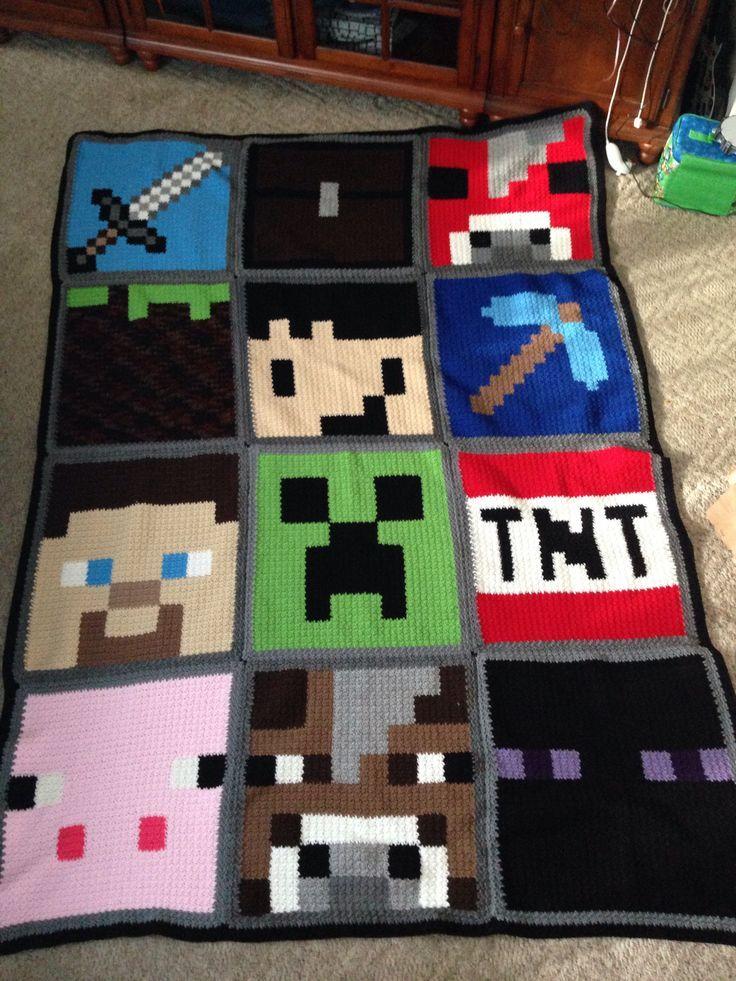 Minecraft Crochet Blanket Patterns Minecraft Blanket 2