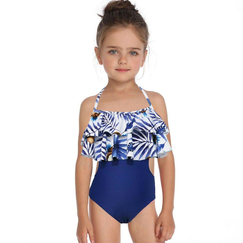 Toddler Kids Swimming Costumes Baby Girls Tankini Bikini Beach Bathing Swimsuit