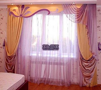 Modern living room curtains designs ideas colors styles - Latest curtain design for living room ...