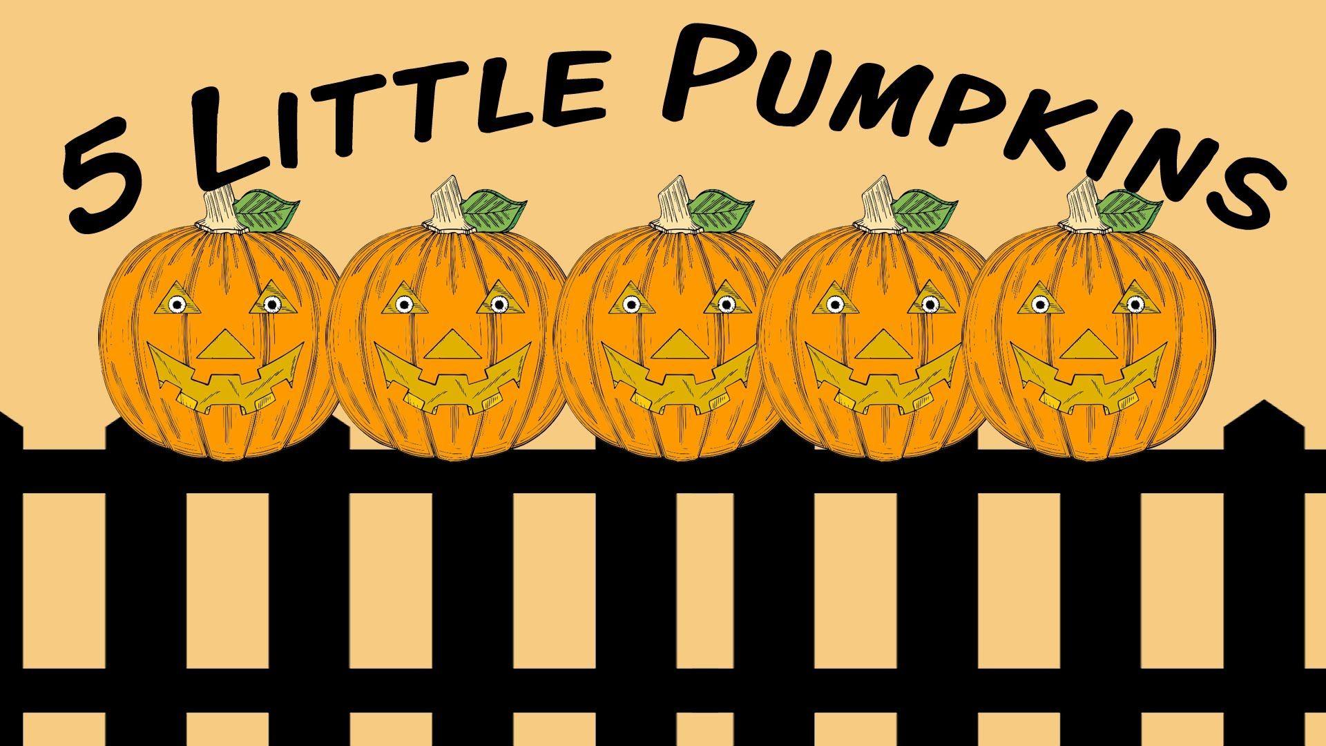 5 Little Pumpkins Fingerplay Song For Children