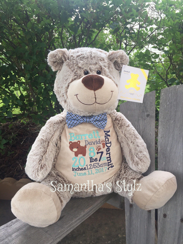 Personalized stuffed bear adoption gift monthly milestone prop personalized stuffed bear adoption gift monthly milestone prop personalized baby gift keepsake negle Gallery