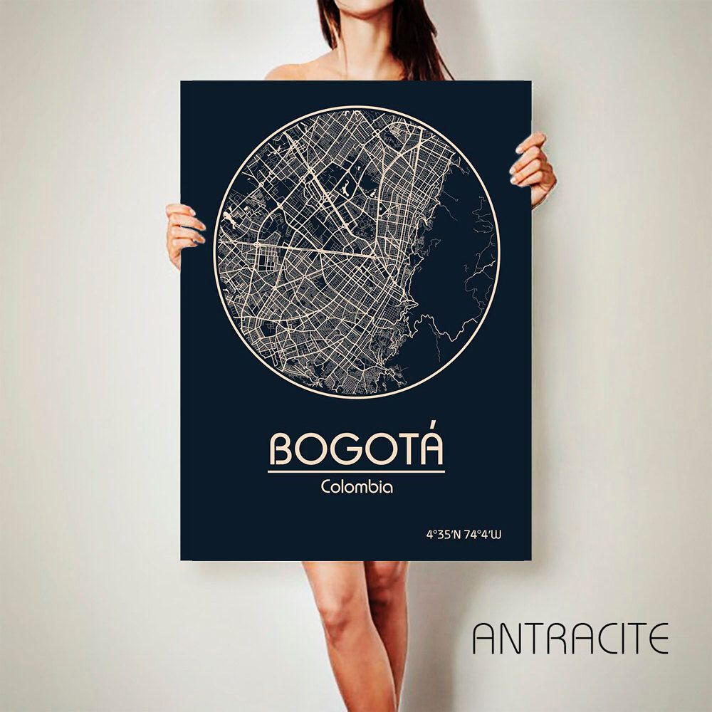 Blue Indication Stock Vector Blue Bogota Colombia Map Indication  # Muebles Moon Bogota