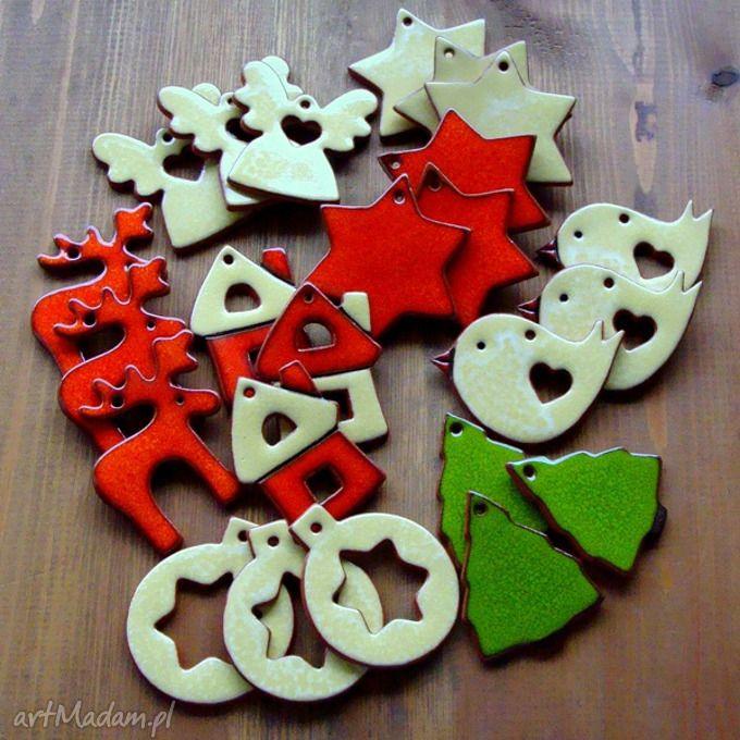 • trendy ceramika, dom - zestaw ozdób ceramicznych - Pracownia AKo