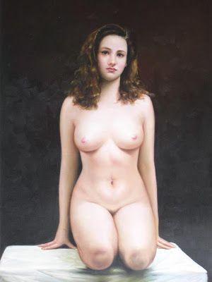 kneeling Nude girl