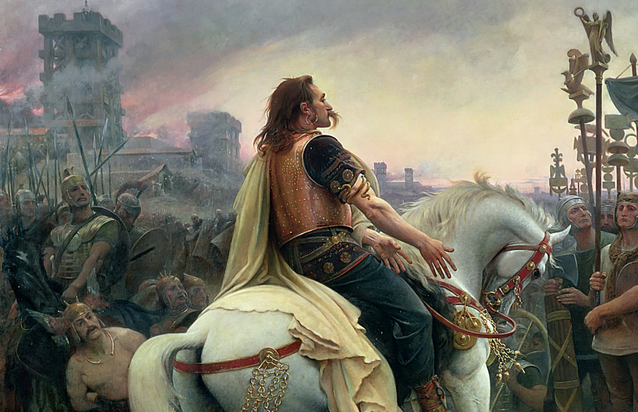 Vercingetorix Throws Down his Arms at the Feet of Julius ...