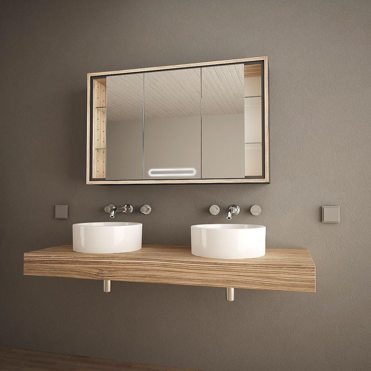 Spiegelschrank aus Holz Sirina Jetzt bestellen unter: https ... | {Spiegelschränke bad 0}