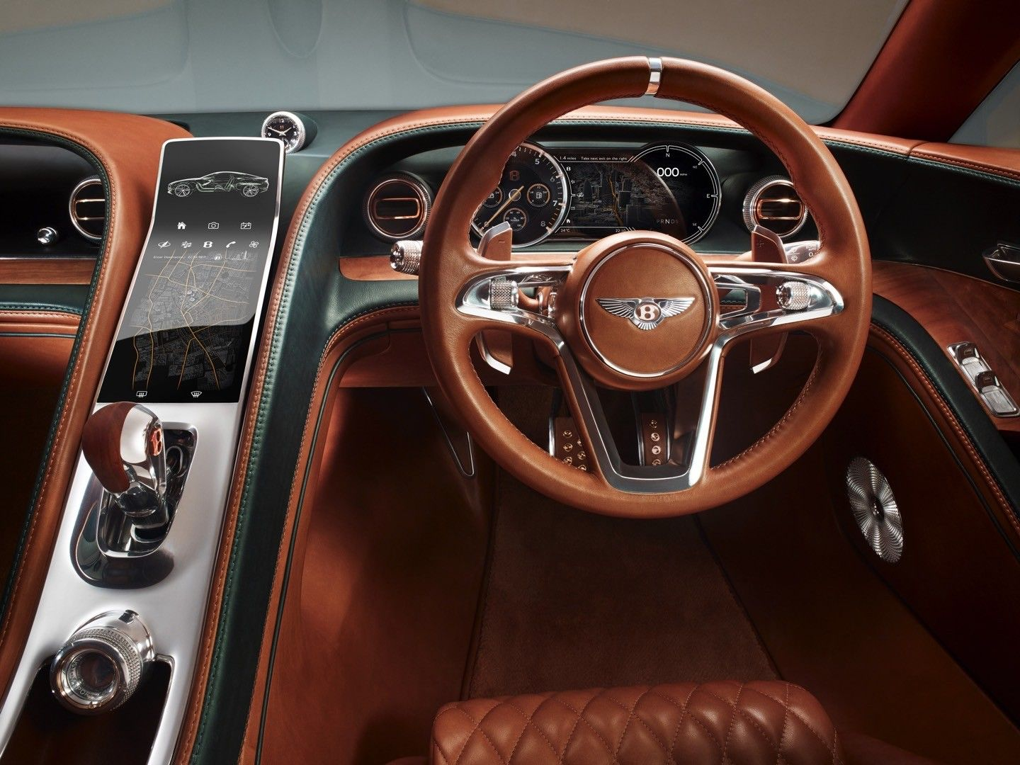 Bentley Two Seat Sport Car EXP 10 Speed 6 Concept. Inside The  Performance Oriented Interior Are Luxury Touches, Like Straight Grain  Cherry Wood Door Inserts ...