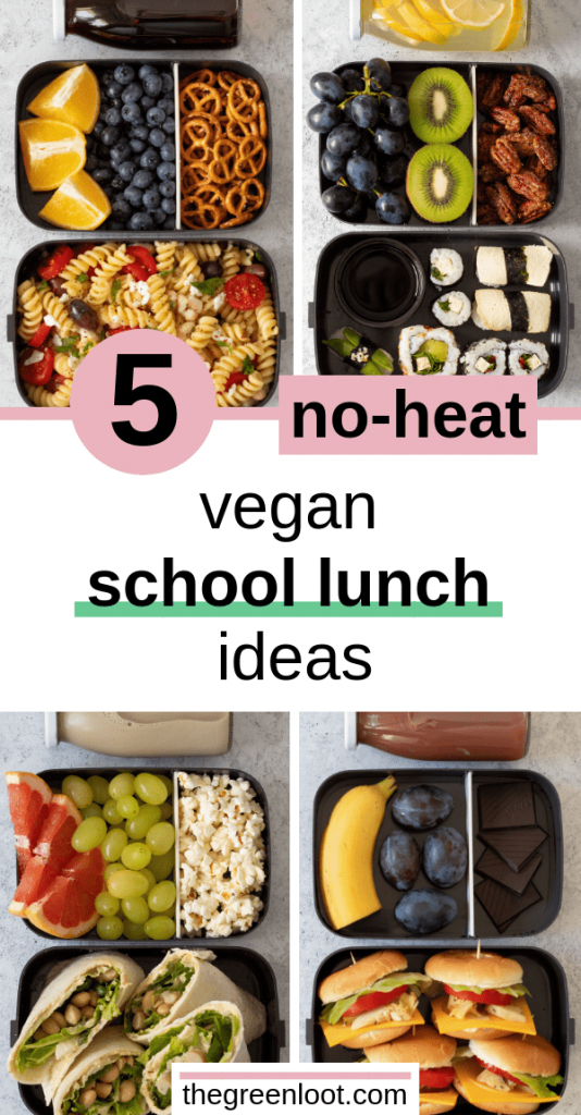 5 No-Heat Vegan School Lunch Ideas For College images