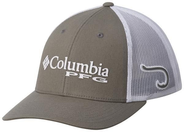 Columbia Sportswear Men s PFG Mesh Ball Cap TITANIUM HOOK GRAY Fitted Hat  NWT S  Columbia cdad86b3233c