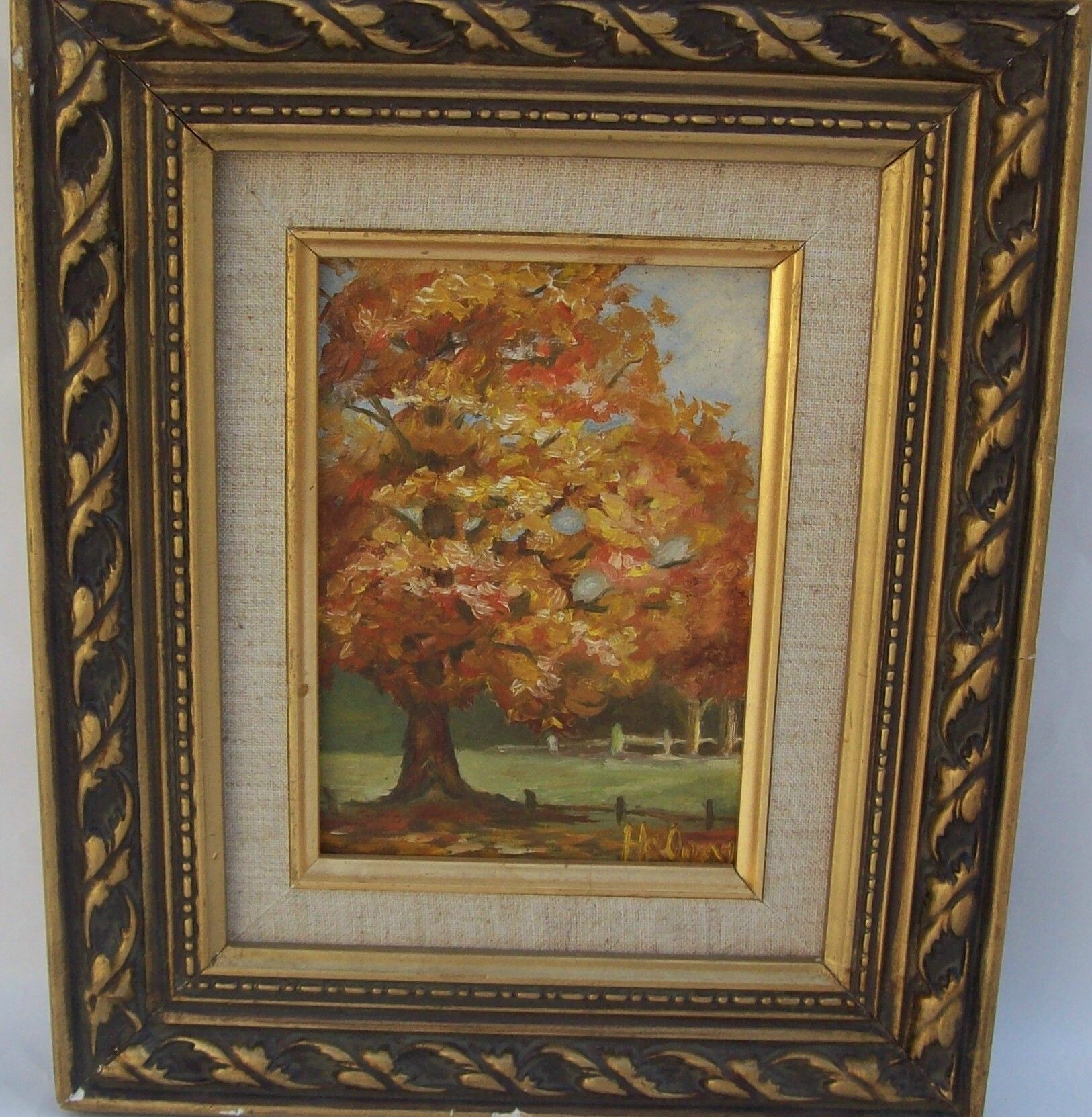 Signed Original Titled Fall Landscapes Oil Painting on Canvas