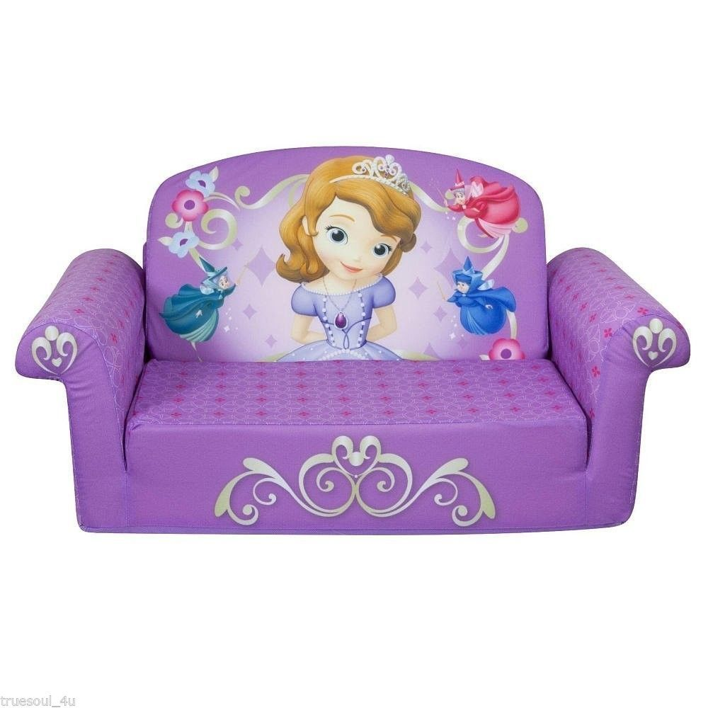 Marshmallow Flip Open Sofa Disney Princess Theme The Couch Mom