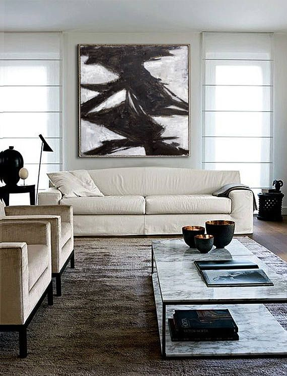 abstract acrylic painting contemporary art hand made on modern acrylic paintings for living room id=47033