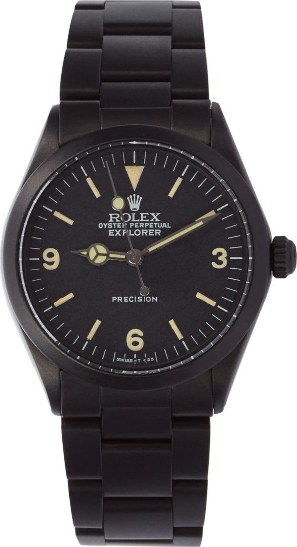 b6b1e0e9bb0 Black Limited Edition - Matte Black Limited Edition Rolex Oyster Perpetual  Explorer